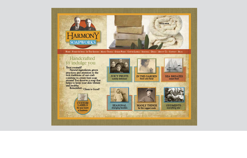 Harmony Soapworks website design
