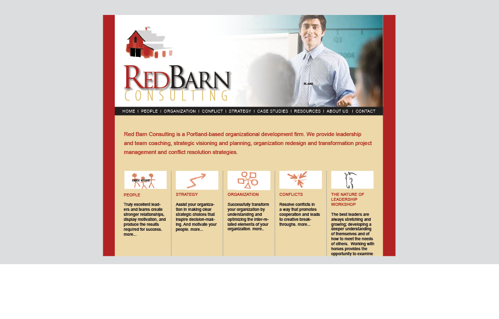 red barn consulting website design