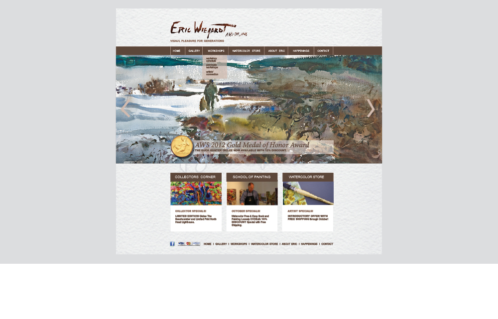 Eric Wiegardt website design