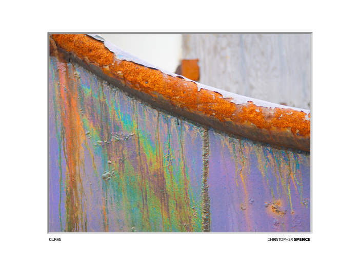 abstract photo purple and rust