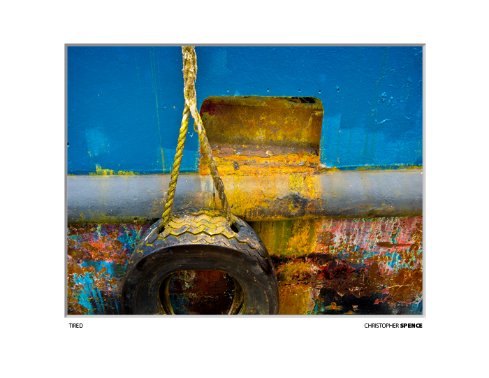 abstract photo blue paint and rust