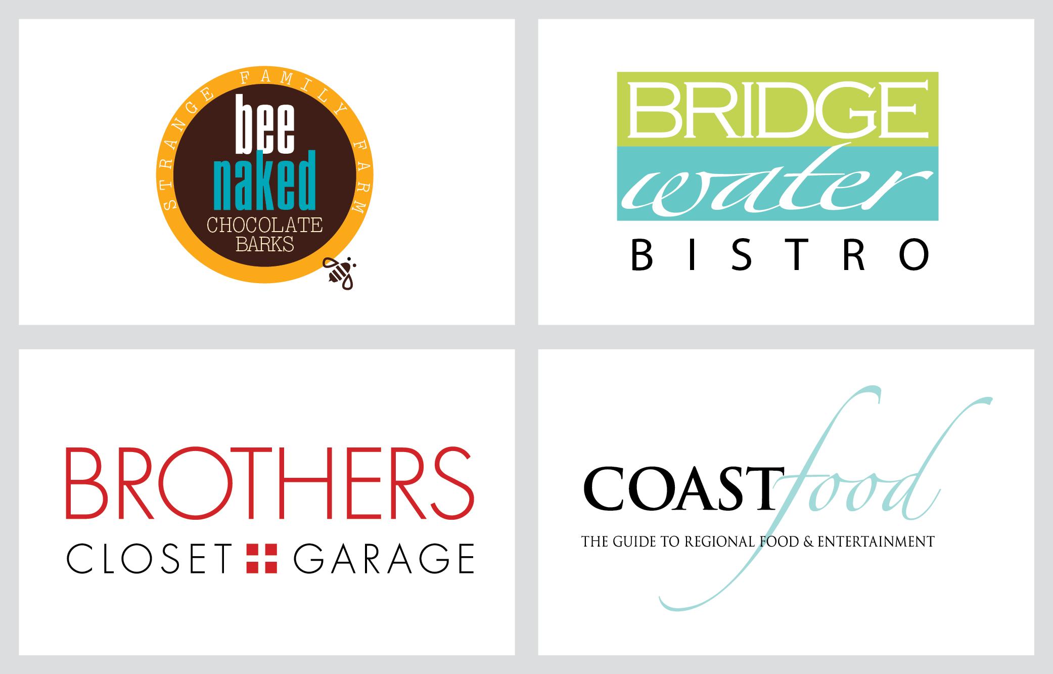 bridge water bistro, coast food logos