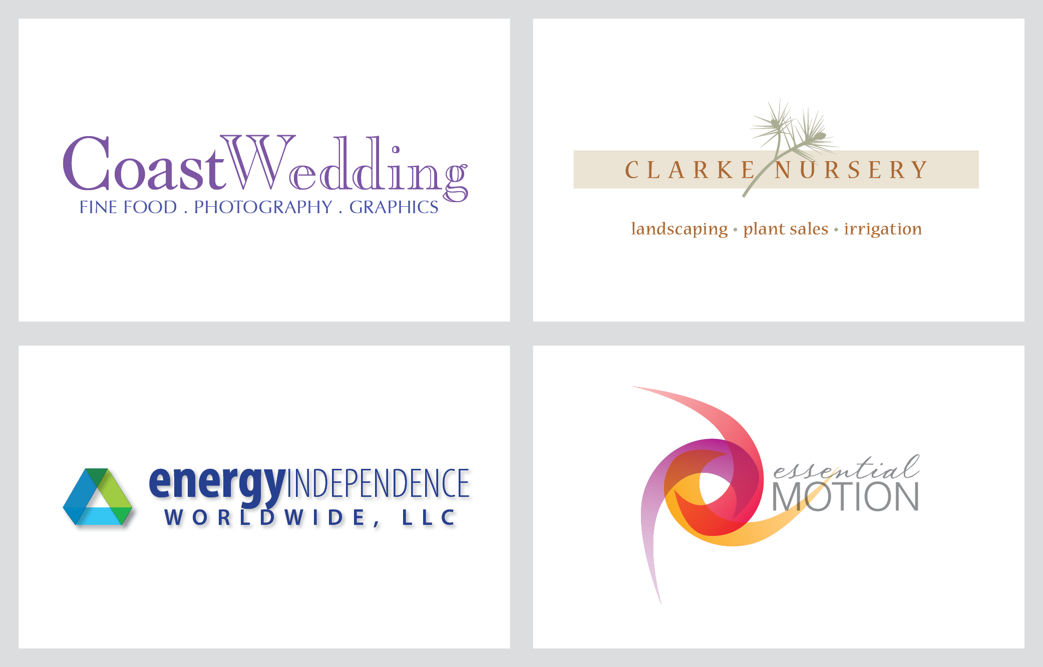 coast wedding logo examples