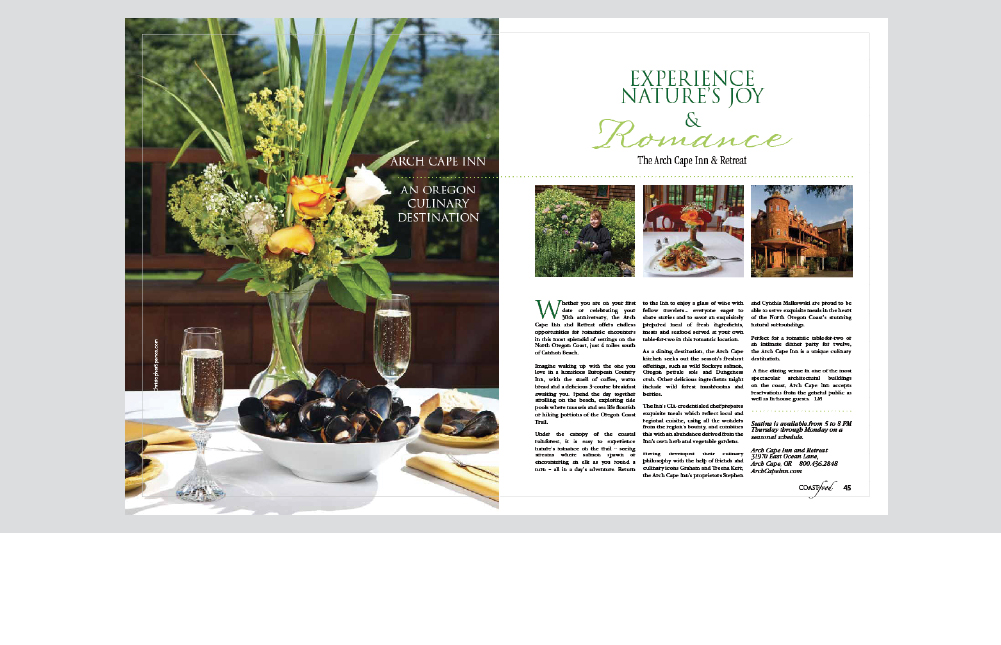 Experience Natures Joy & Romance magazine photo