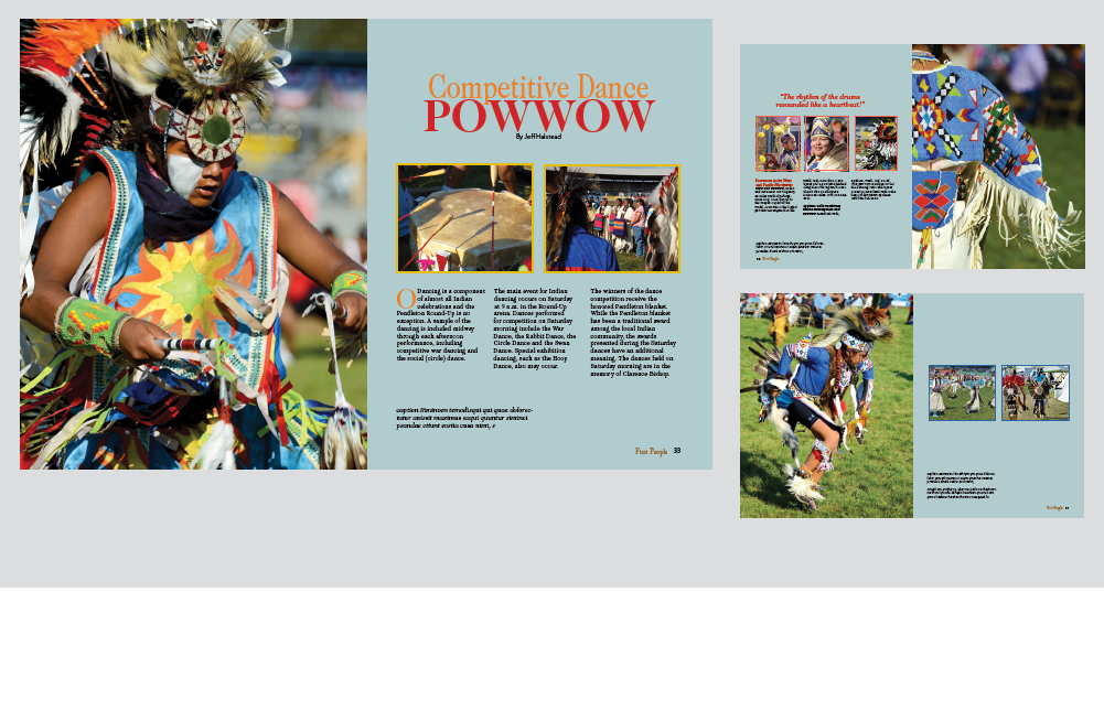 competitive dance powwow magazine photo