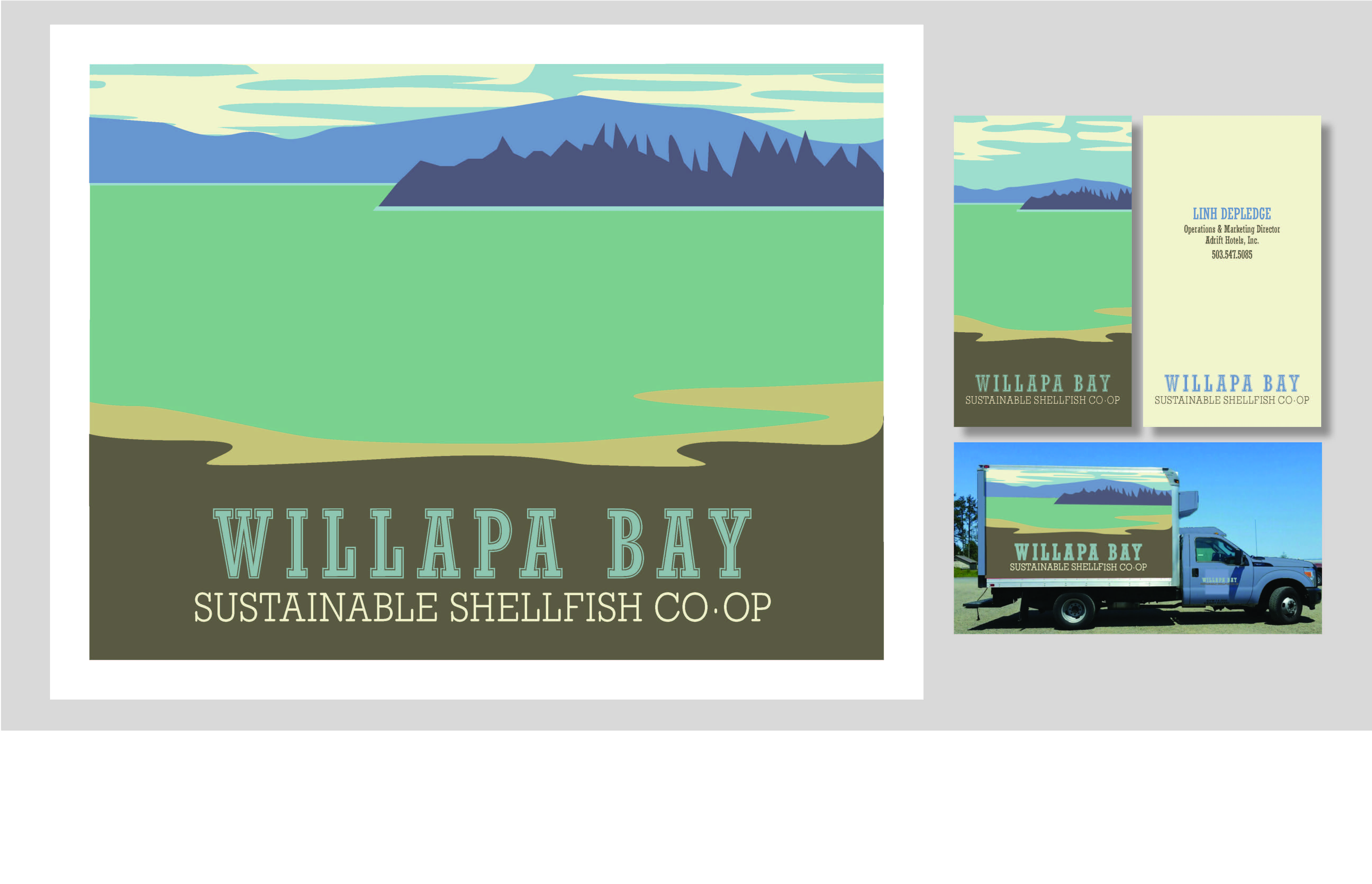 Willapa Bay truck decal