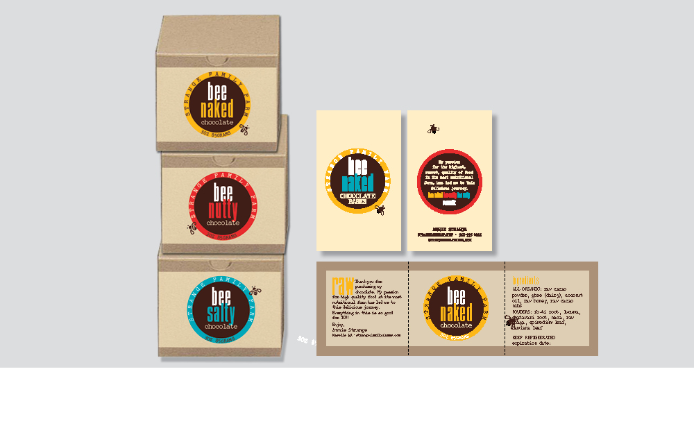 bee chocolate branding