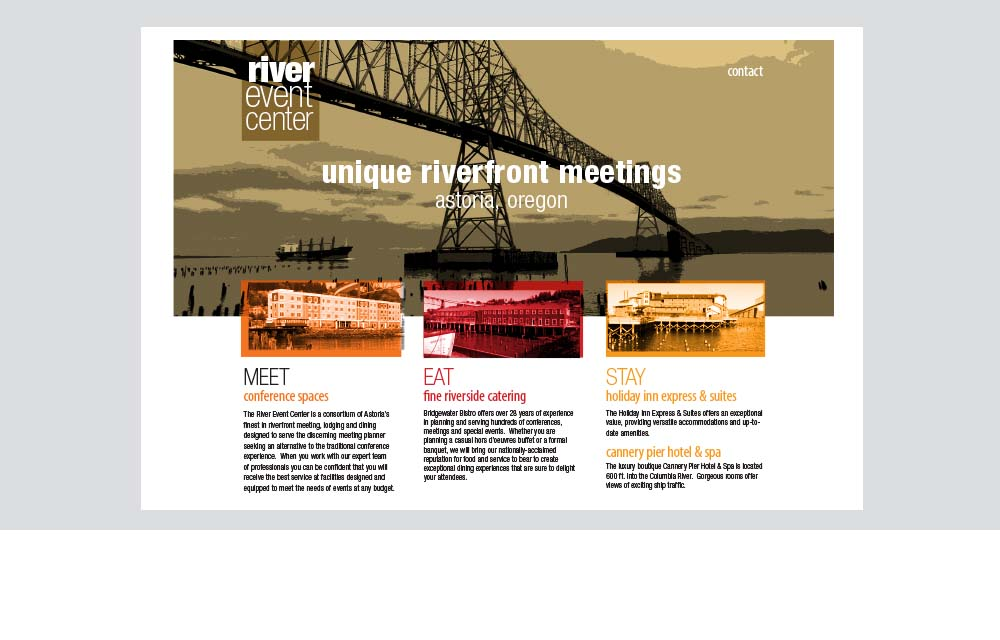 River Event Center website design
