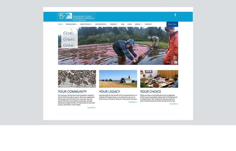 SPCCF website design